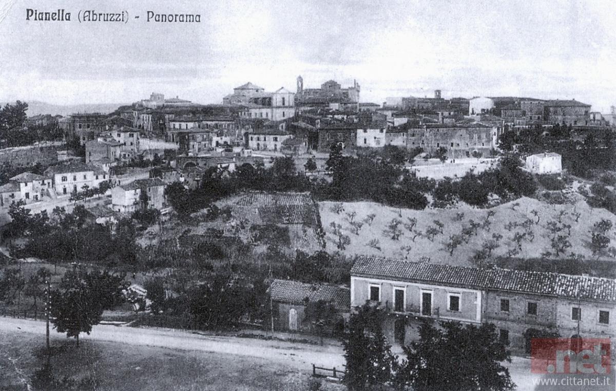 Pianella vista da Sant'Angelo. Archivio Carlo Di Francesco
