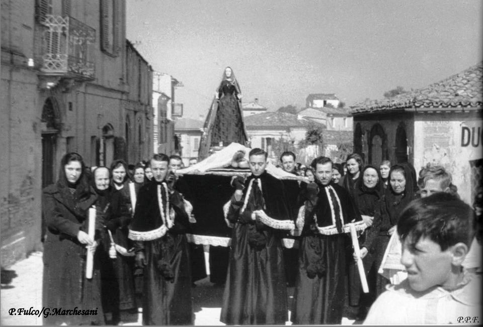 Spoltore. Processione del Venerdì Santo anni '30